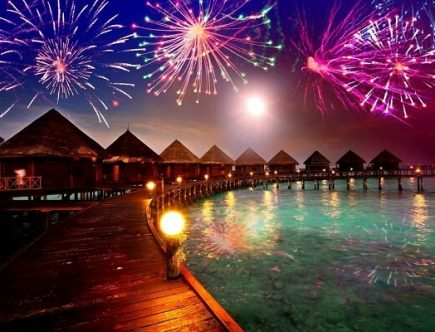 Bora Bora New Years Eve Fireworks