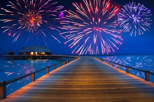 Maldives New Years Eve Fireworks