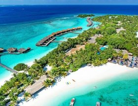 Sheraton Maldives Full Moon Resort Best Aerial View