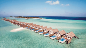 Aerial View at Lux Resort Maldives