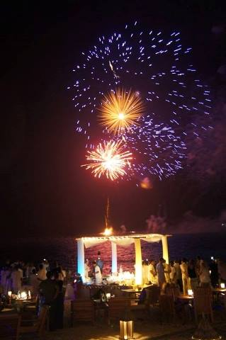 Conrad Maldives New Year Fireworks