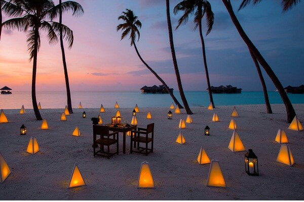 Evening at Gili Lankanfushi Maldives