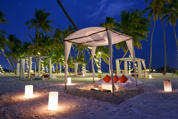 Romantic Night View at Gili Lankanfushi Maldives