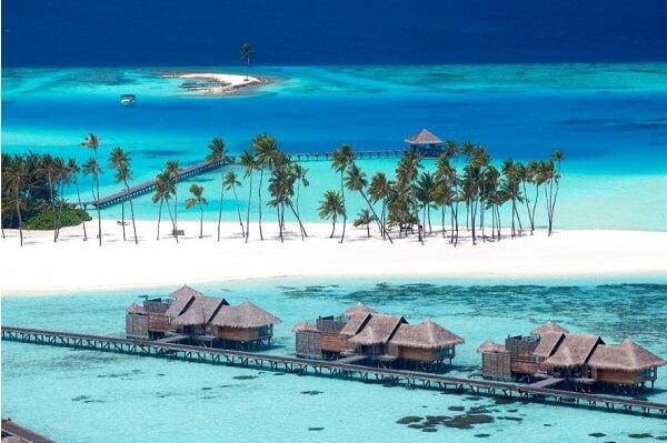 Aerial View of Gili Lankanfushi Maldives