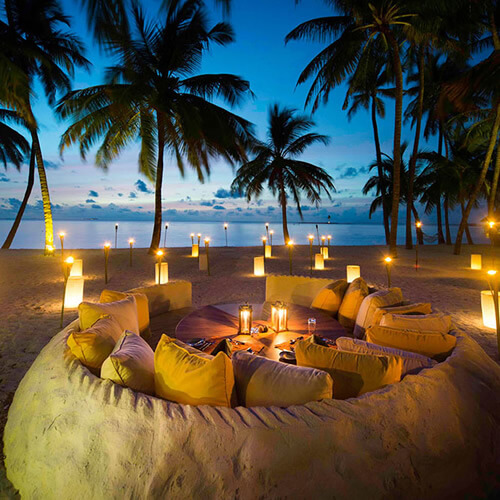 Beautiful Evening at Gili Lankanfushi Maldives