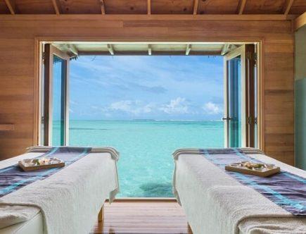 Over Water Spa Couples Treatment Room at Conrad Maldives
