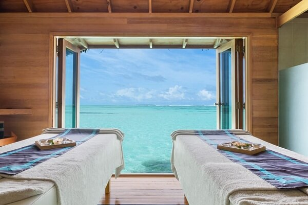 Over Water Spa Couples Treatment Room at Conrad Maldives