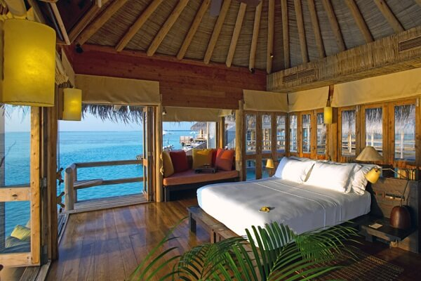 Private Reserve Bedroom at Gili Lankanfushi Maldives