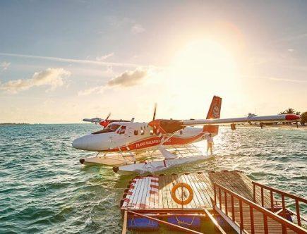 Seaplane Arrival at Lux South Ari Atoll Maldives
