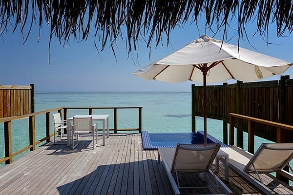 Water Villa Deck at Conrad Maldives