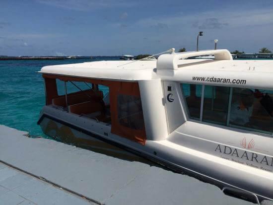 Adaaran Prestige Ocean Villas Speedboat