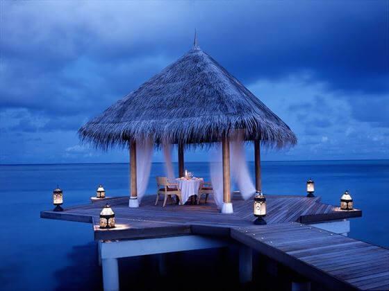 Romantic Dining Pavilion @ Taj Exotica Exotica Resort Maldives