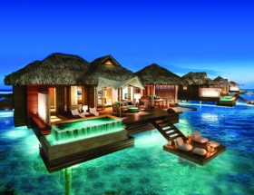 Incredible Overwater Bungalows in the Caribbean