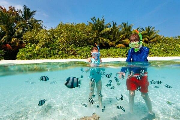 Children Enjoying in Maldives