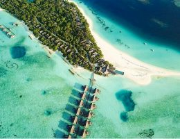 Aerial View of Four Seasons Resort Maldives at Landaa Giraavaru