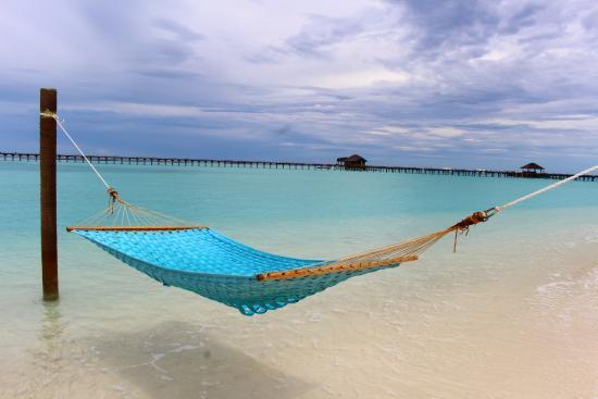 Sun Siyam Iru Fushi Hammock Near the Beach