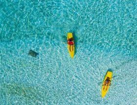 Canoeing at Filitheyo Island Resort Maldives