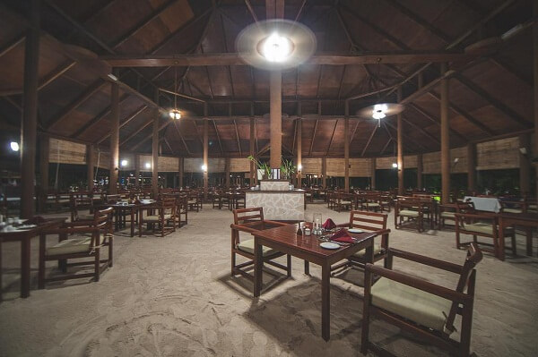 Dinner Area at Filitheyo Island Resort Maldives